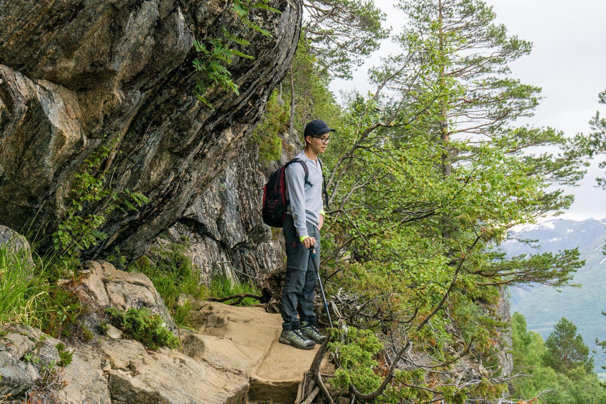 【北歐景點】峽灣區起點Åndalsnes健行 - 鳥瞰峽灣全景的Rampestreken觀景台 16