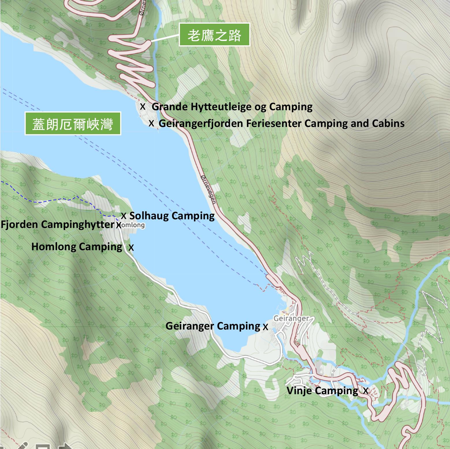 【北歐露營】在世界遺產峽灣旁露營 — 坐擁壯闊海景第一排的 Geiranger Camping 2