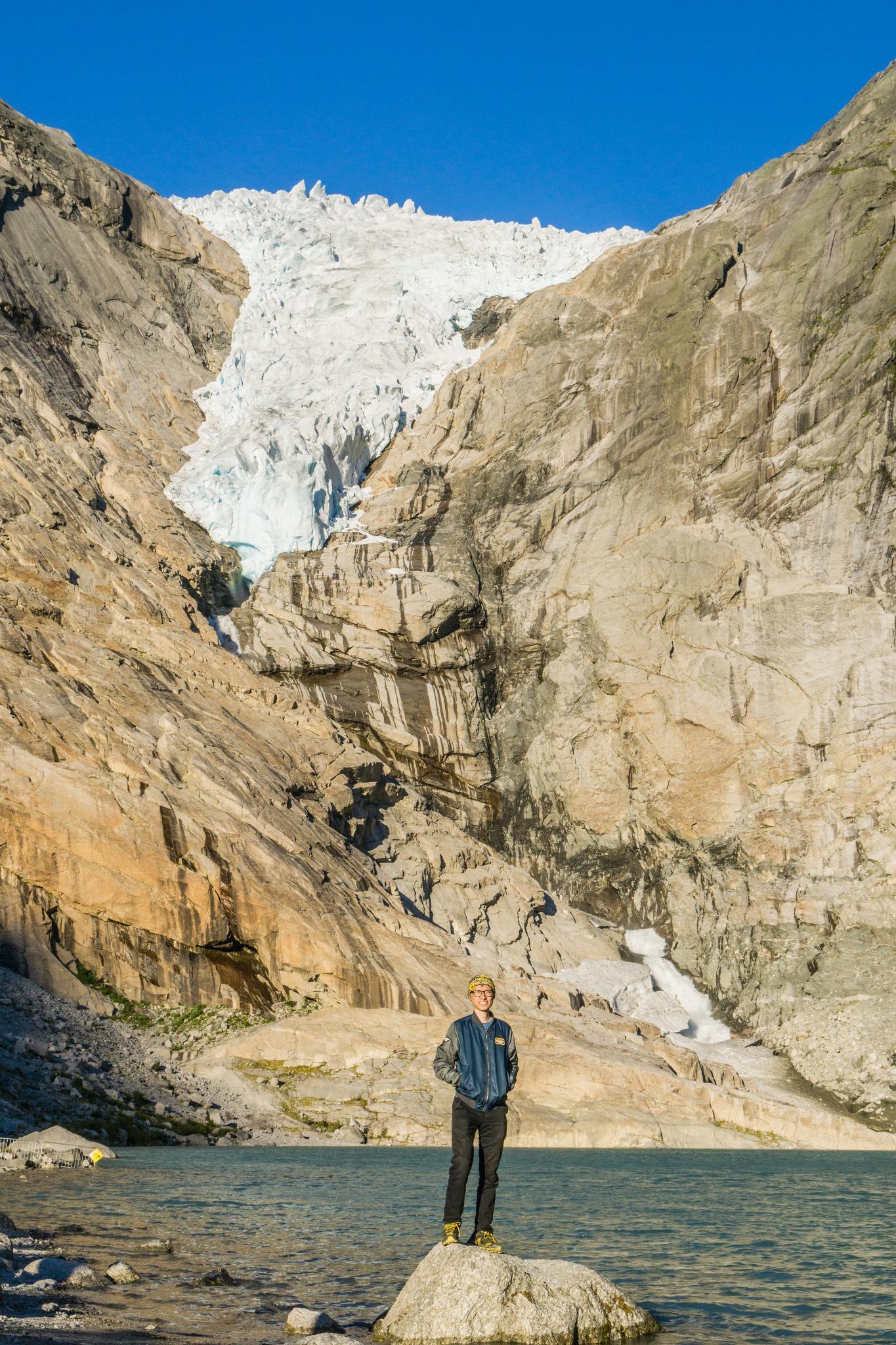 【北歐景點】挪威散步看冰川 - Briksdal Glacier 逐漸消融的冰河哀愁 11