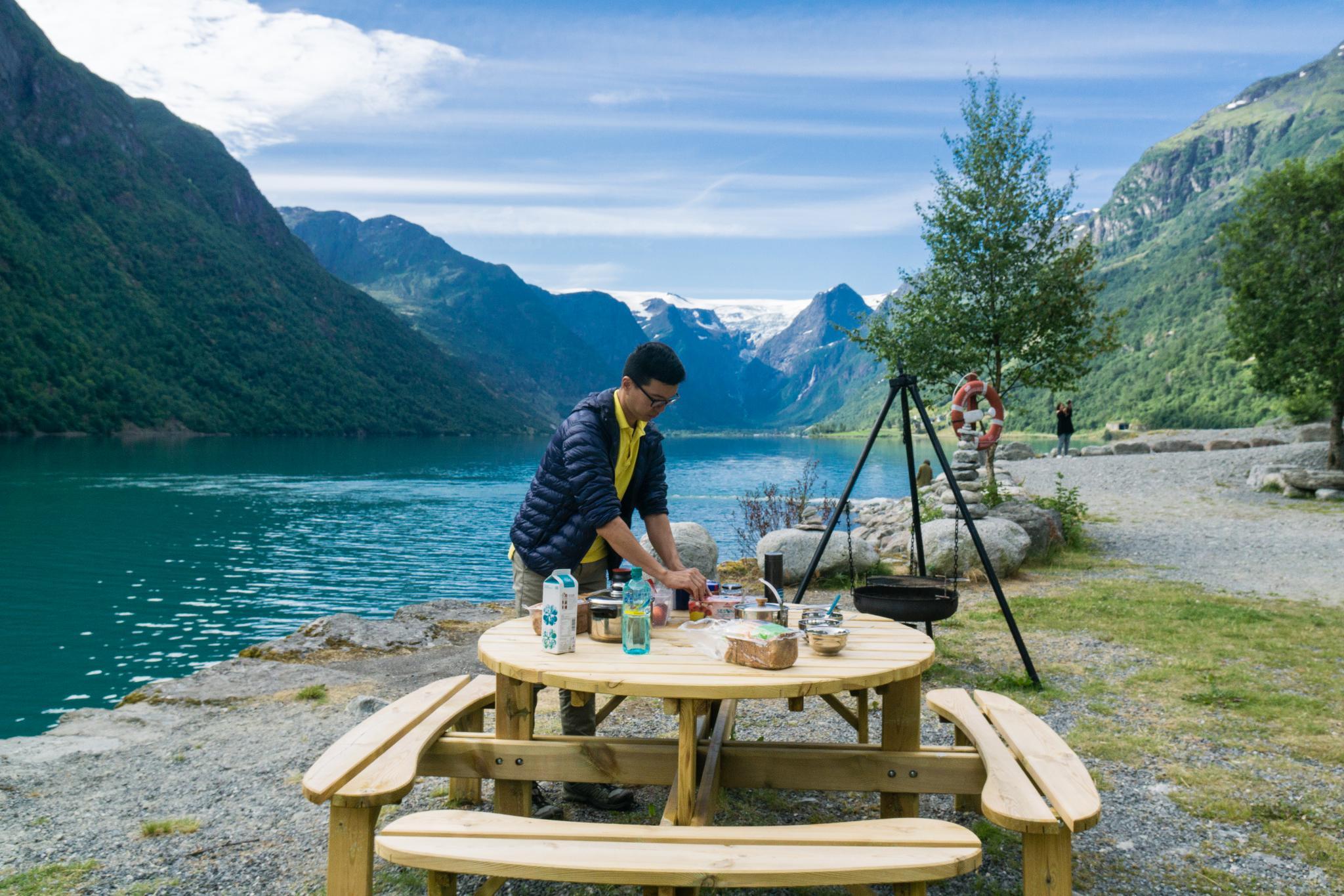 【北歐露營】擁抱Briksdal Glacier的怦然心動 - 在冰河最前緣露營的Gryta Camping 9