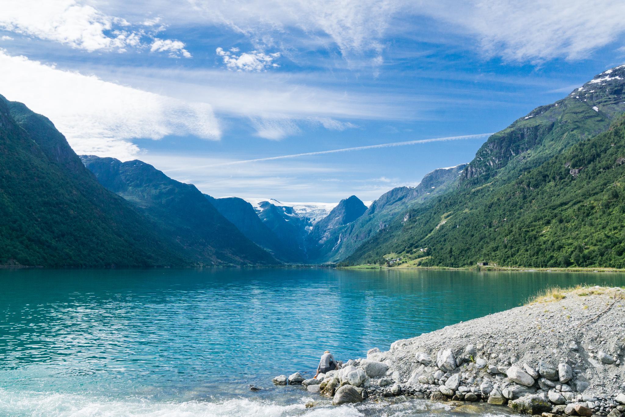 【北歐露營】擁抱Briksdal Glacier的怦然心動 - 在冰河最前緣露營的Gryta Camping 8