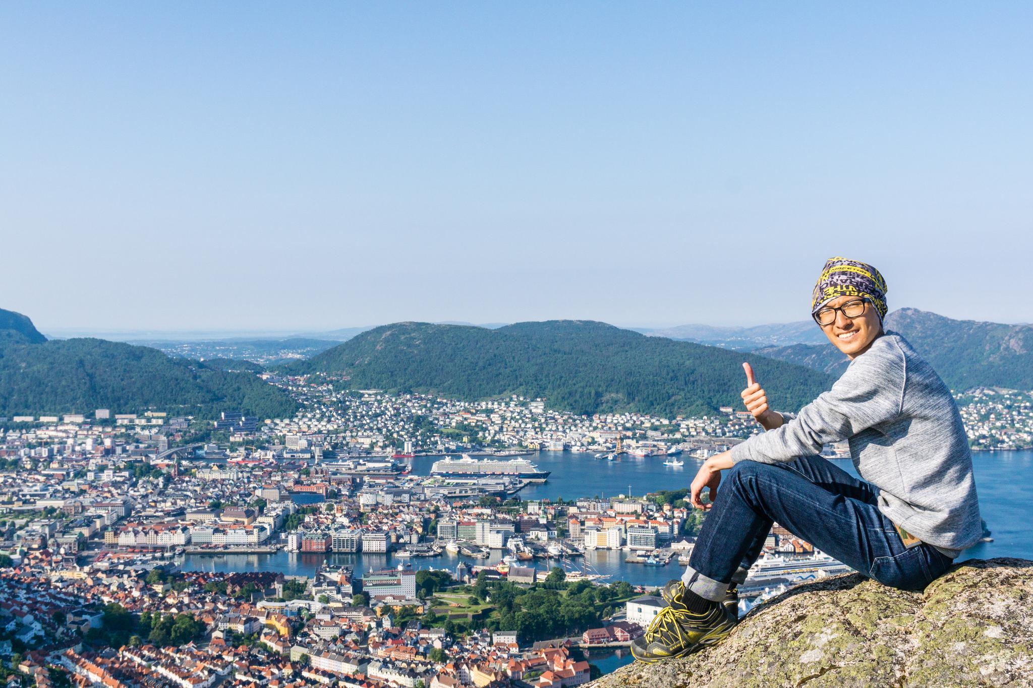 【卑爾根】超級震撼的隱藏版挪威景點 — Stoltzekleiven桑德維克斯石梯與Fløyen佛洛伊恩觀景台大縱走 17