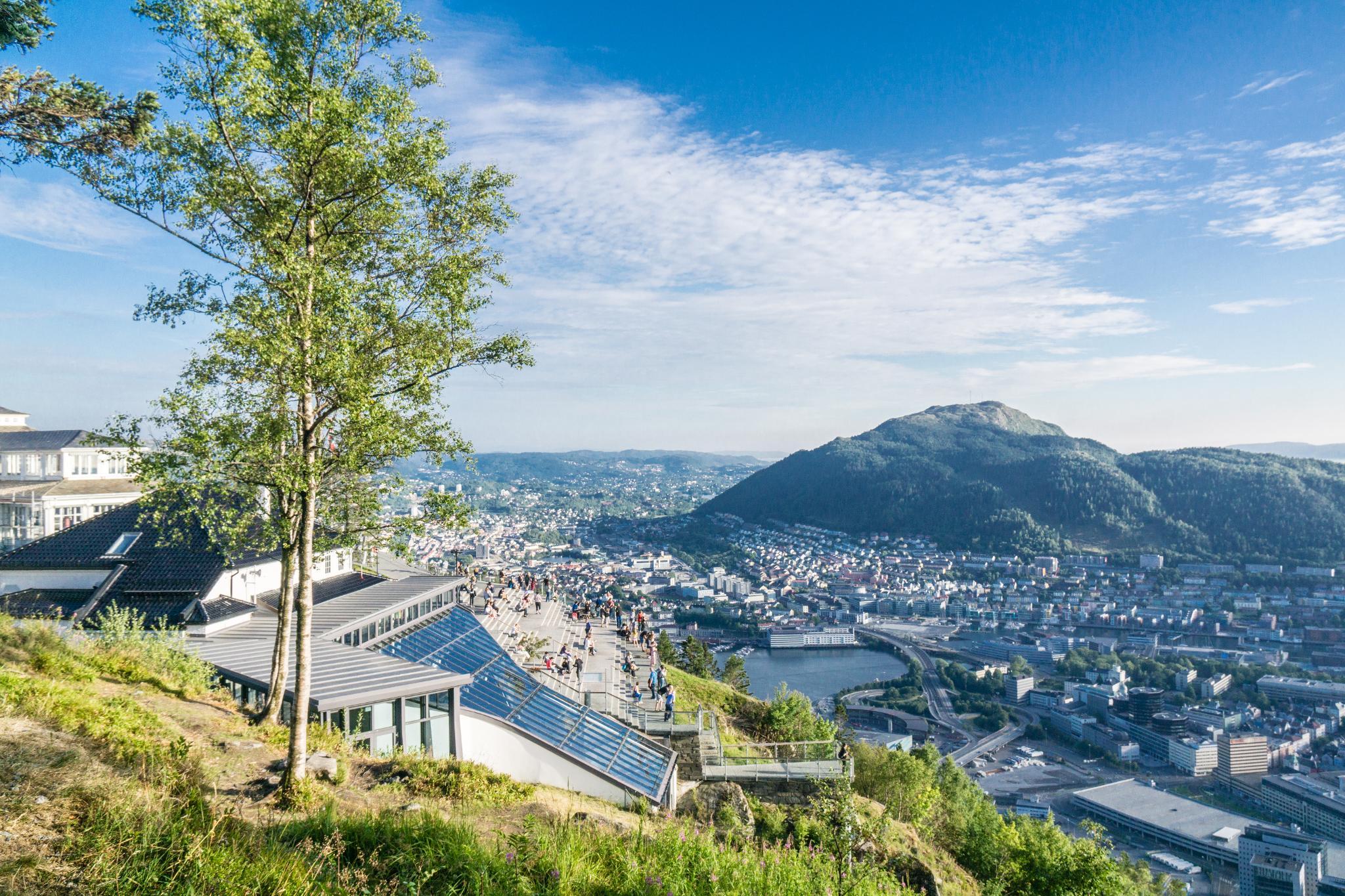 【卑爾根】Fløyen 佛洛伊恩山纜車與觀景台 — 擁抱文化港都的百萬美景 84
