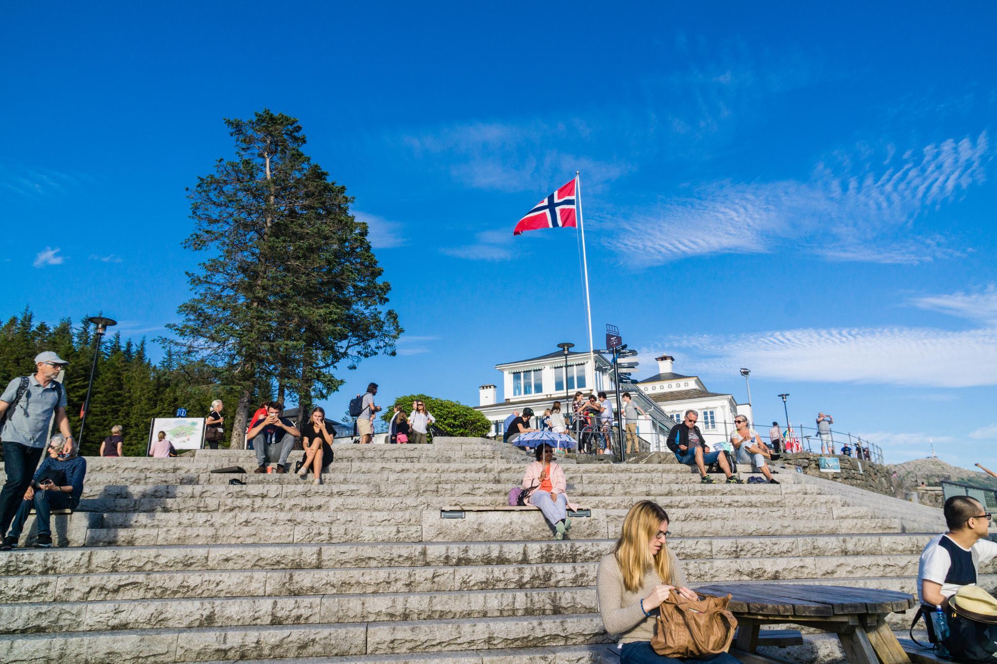 【卑爾根】Fløyen 佛洛伊恩山纜車與觀景台 — 擁抱文化港都的百萬美景 85