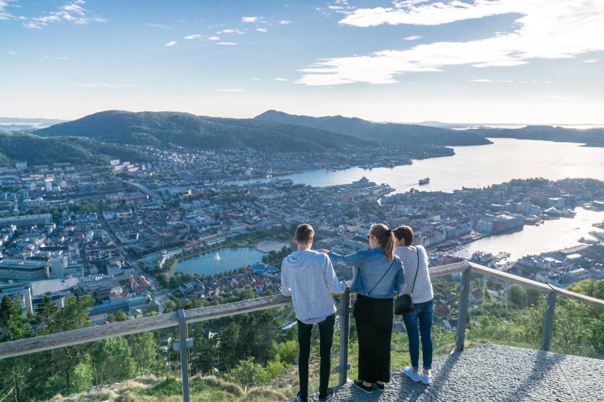 【卑爾根】Fløyen 佛洛伊恩山纜車與觀景台 — 擁抱文化港都的百萬美景 86