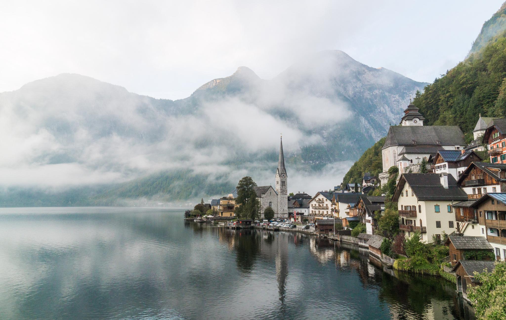 【奧地利】童話仙境 Hallstatt 哈修塔特 — 追逐世界遺產小鎮的夢幻黃金日出 14