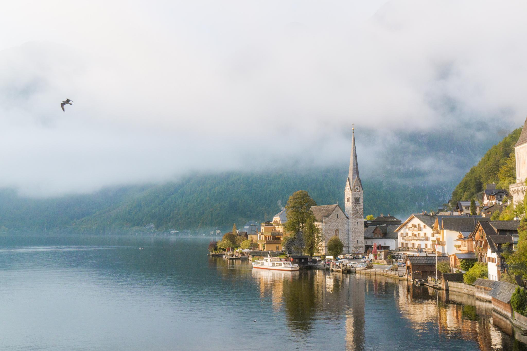 【奧地利】童話仙境 Hallstatt 哈修塔特 — 追逐世界遺產小鎮的夢幻黃金日出 7