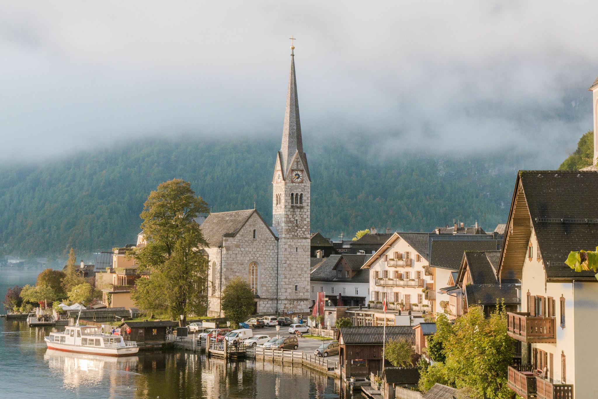 【奧地利】童話仙境 Hallstatt 哈修塔特 — 追逐世界遺產小鎮的夢幻黃金日出 17