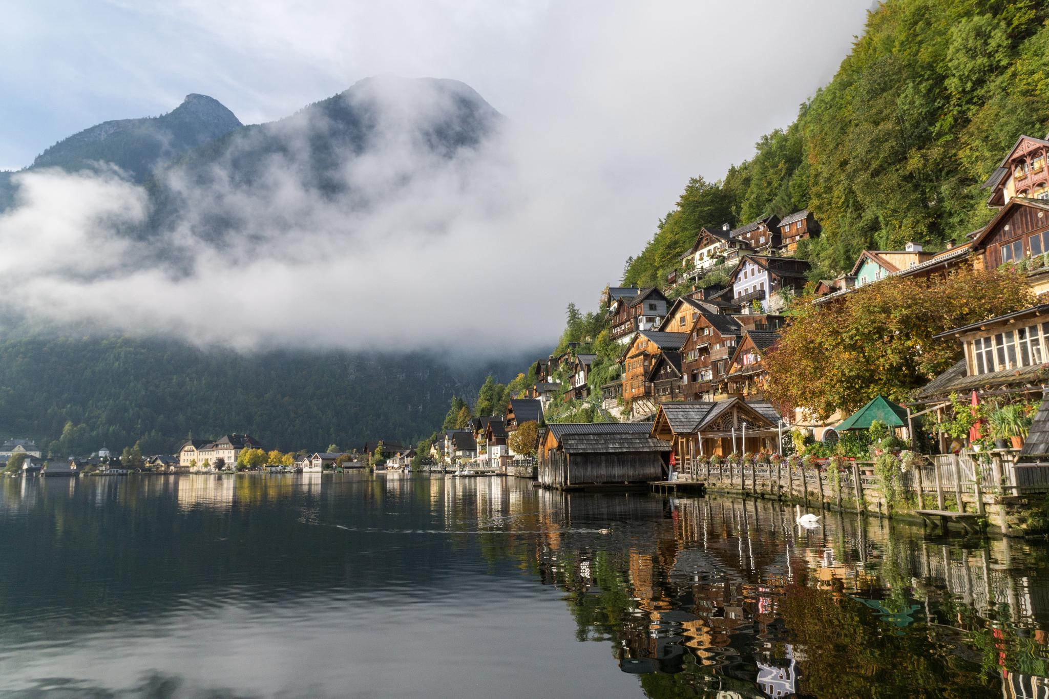 【奧地利】童話仙境 Hallstatt 哈修塔特 — 追逐世界遺產小鎮的夢幻黃金日出 20