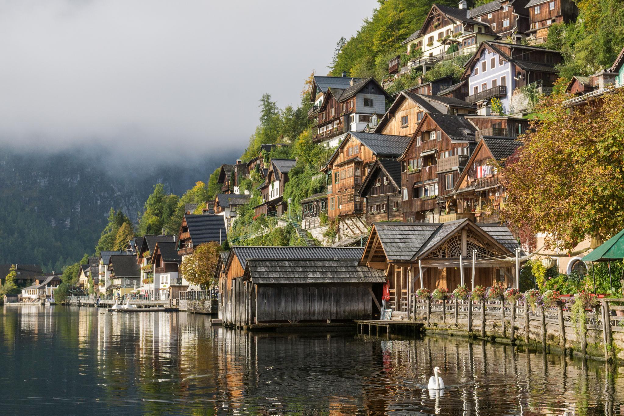 【奧地利】童話仙境 Hallstatt 哈修塔特 — 追逐世界遺產小鎮的夢幻黃金日出 8