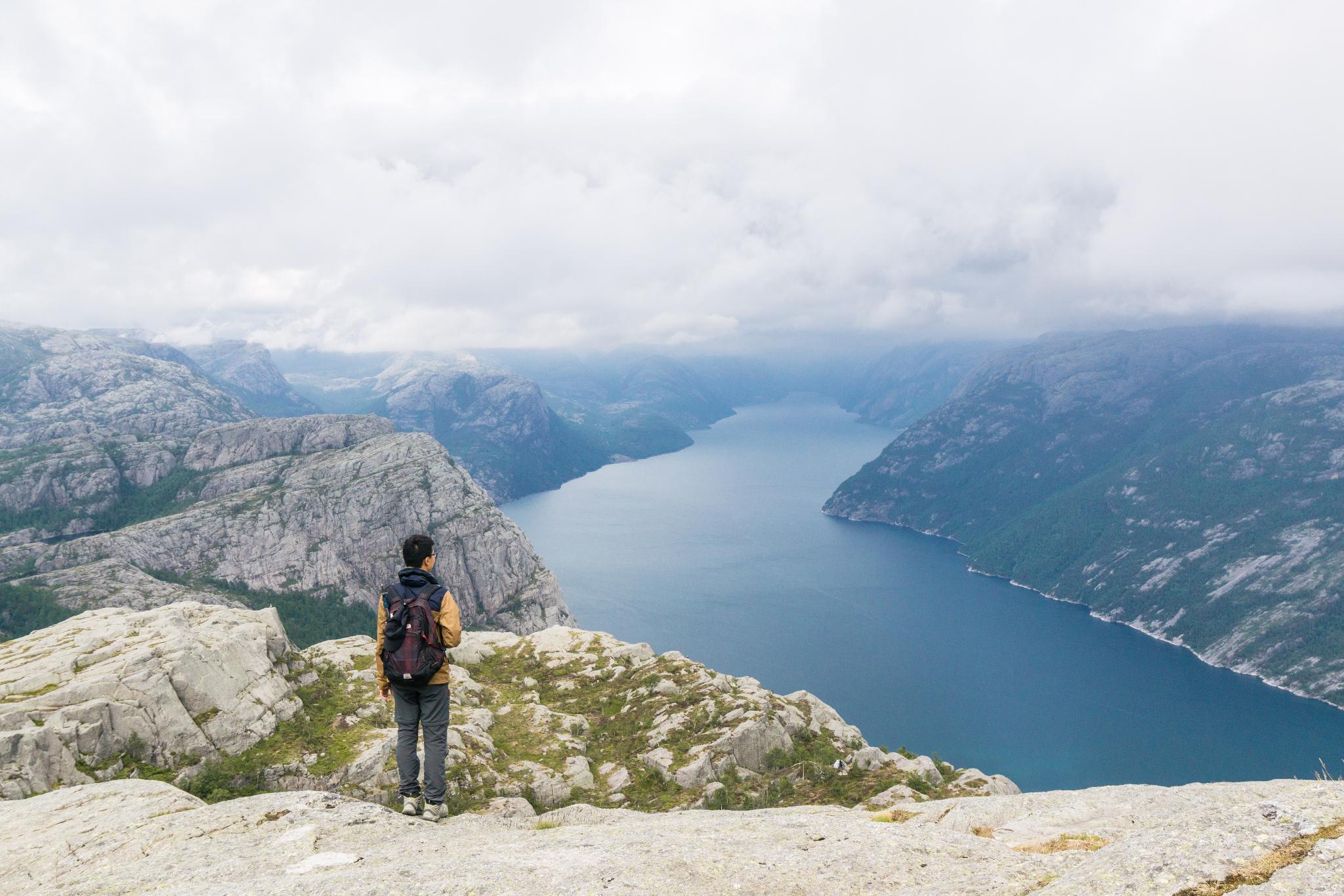 【北歐景點】朝聖挪威三大奇岩:聖壇岩Preikestolen健行紀錄 35